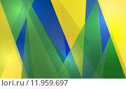 Купить «Abstract geometric Brazil flag», иллюстрация № 11959697 (c) PantherMedia / Фотобанк Лори