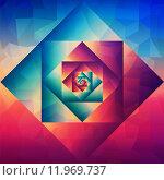 Купить «Vintage optic art geometric pattern», иллюстрация № 11969737 (c) PantherMedia / Фотобанк Лори