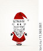 Купить «Geometric contemporary Santa Claus», иллюстрация № 11969861 (c) PantherMedia / Фотобанк Лори