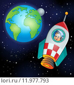 Купить «Image with space theme 4», иллюстрация № 11977793 (c) PantherMedia / Фотобанк Лори