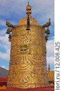 Купить «Dhvaja or victory banner on the roof of Jokhang temple in Lhasa, Tibet», фото № 12008425, снято 15 октября 2019 г. (c) PantherMedia / Фотобанк Лори