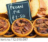 Купить «Close up shot of pecan pies in British market», фото № 12010097, снято 11 июля 2020 г. (c) PantherMedia / Фотобанк Лори