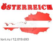 Купить «map illustration of Austria with flag», иллюстрация № 12019693 (c) PantherMedia / Фотобанк Лори