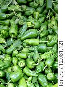 Купить «Fresh organic bell pepper background, photo taken at local farmers market», фото № 12081121, снято 16 июня 2019 г. (c) PantherMedia / Фотобанк Лори