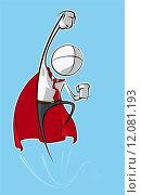 Купить «Simple Business People - Superhero», иллюстрация № 12081193 (c) PantherMedia / Фотобанк Лори