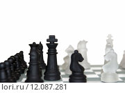 Купить «many chess pieces isolated against white», фото № 12087281, снято 28 мая 2018 г. (c) PantherMedia / Фотобанк Лори