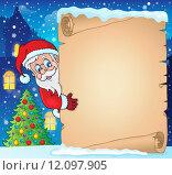 Купить «Winter parchment Christmas theme 1», иллюстрация № 12097905 (c) PantherMedia / Фотобанк Лори