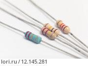 Купить «Group of electronic resistors», фото № 12145281, снято 28 мая 2018 г. (c) PantherMedia / Фотобанк Лори