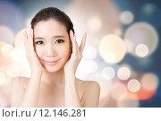 Купить «Asian beauty face», фото № 12146281, снято 22 октября 2018 г. (c) PantherMedia / Фотобанк Лори