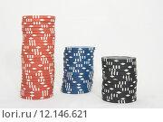 Купить «Poker chips», фото № 12146621, снято 19 февраля 2020 г. (c) PantherMedia / Фотобанк Лори