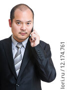 Купить «Businessman talk to cellphone», фото № 12174761, снято 17 января 2020 г. (c) PantherMedia / Фотобанк Лори