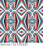 Купить «Retro seamless pattern vector background», иллюстрация № 12175637 (c) PantherMedia / Фотобанк Лори