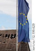 caucasian europe european flag bankrupt. Стоковое фото, фотограф Alexandra Buss / PantherMedia / Фотобанк Лори