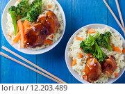 Купить «Rice Chicken And Vegetables», фото № 12203489, снято 23 июля 2019 г. (c) PantherMedia / Фотобанк Лори