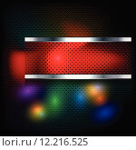 Купить «red dark square banner metallic», иллюстрация № 12216525 (c) PantherMedia / Фотобанк Лори