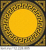 Купить «vector Traditional vintage gold Greek ornament (Meander)», иллюстрация № 12228805 (c) PantherMedia / Фотобанк Лори