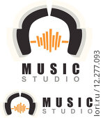 Купить «Music headphones logo», иллюстрация № 12277093 (c) PantherMedia / Фотобанк Лори