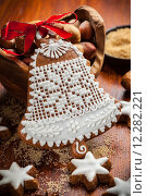Купить «Gingerbread bell for Christmas», фото № 12282221, снято 16 июня 2019 г. (c) PantherMedia / Фотобанк Лори