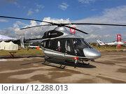 Купить «Легкий вертолёт «Ансат», Международный авиационно-космический салон МАКС-2015», эксклюзивное фото № 12288013, снято 29 августа 2015 г. (c) Алексей Гусев / Фотобанк Лори
