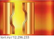 Купить «metal gold plate banner metallic», иллюстрация № 12296233 (c) PantherMedia / Фотобанк Лори