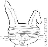Купить «Outlined Blindfolded Rabbit», иллюстрация № 12317753 (c) PantherMedia / Фотобанк Лори