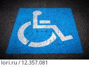 Купить «Disabled Parking Spaces», фото № 12357081, снято 25 августа 2019 г. (c) PantherMedia / Фотобанк Лори