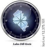 Купить «Map of Lahn-Dill-Kreis», фото № 12375101, снято 27 июня 2019 г. (c) PantherMedia / Фотобанк Лори