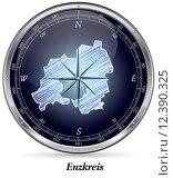 Map of Enzkreis. Стоковое фото, фотограф Jacqueline Böttcher / PantherMedia / Фотобанк Лори