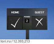 Купить «tick cross scoreboard», фото № 12393213, снято 22 сентября 2019 г. (c) PantherMedia / Фотобанк Лори