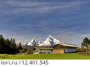 Купить «spring mountains alps bavaria alpenpanorama», фото № 12401545, снято 20 августа 2019 г. (c) PantherMedia / Фотобанк Лори
