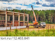 Купить «Building under construction with hdr effect», фото № 12403841, снято 18 января 2019 г. (c) PantherMedia / Фотобанк Лори