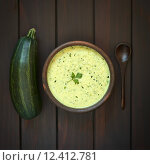 Купить «Cream of Zucchini Soup», фото № 12412781, снято 11 декабря 2017 г. (c) PantherMedia / Фотобанк Лори