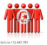 Купить «Flag of Tunisia on stick figure», иллюстрация № 12441781 (c) PantherMedia / Фотобанк Лори
