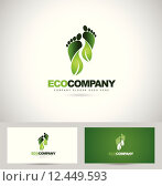 Купить «Eco Green Steps Logo», иллюстрация № 12449593 (c) PantherMedia / Фотобанк Лори