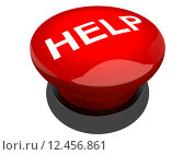 Купить «Roter leuchtender Button Buzzer mit der Aufschrift Help», фото № 12456861, снято 10 декабря 2018 г. (c) PantherMedia / Фотобанк Лори