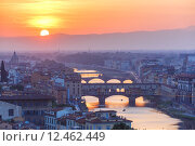 Купить «Arno and Ponte Vecchio at sunset, Florence, Italy», фото № 12462449, снято 17 января 2019 г. (c) PantherMedia / Фотобанк Лори