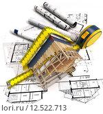 Купить «Construction structure», фото № 12522713, снято 20 февраля 2019 г. (c) PantherMedia / Фотобанк Лори