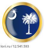 Купить «South Carolina Flag Button», иллюстрация № 12541593 (c) PantherMedia / Фотобанк Лори