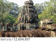 Купить «Прасат Байон, часть храмового комплекса Ангкор, Камбоджа», фото № 12604897, снято 19 июня 2018 г. (c) Сергей Петерман / Фотобанк Лори