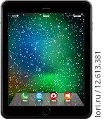 Купить «photo realistic Tablet Similar To iPad style isolated on white», иллюстрация № 12613381 (c) PantherMedia / Фотобанк Лори