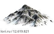 Купить «verschneite Berge - Berggipfel - auf weißem Hintergrund getrennt», фото № 12619821, снято 16 июля 2019 г. (c) PantherMedia / Фотобанк Лори