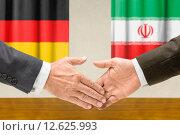 Купить «hand hands flag partnership cooperation», фото № 12625993, снято 22 июля 2019 г. (c) PantherMedia / Фотобанк Лори