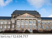 Здание министерства финансов в Дрездене, Германия (2014 год). Стоковое фото, фотограф Алексей Зарубин / Фотобанк Лори