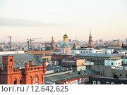 Купить «Центр Москвы сверху», эксклюзивное фото № 12642625, снято 12 августа 2015 г. (c) Алёшина Оксана / Фотобанк Лори