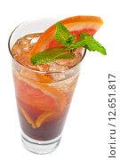 Свежий холодный чай с грейпфрутом, лаймом и мятой. Стоковое фото, фотограф Jan Jack Russo Media / Фотобанк Лори