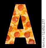 Купить «Пицца в виде буквы», фото № 12652277, снято 9 сентября 2010 г. (c) Александр Подшивалов / Фотобанк Лори