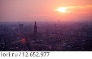 Купить «Закат над Вероной», фото № 12652977, снято 27 января 2015 г. (c) Донцов Евгений Викторович / Фотобанк Лори