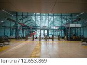 Станция Казань - Аэропорт (2015 год). Редакционное фото, фотограф Михаил Перевозов / Фотобанк Лори