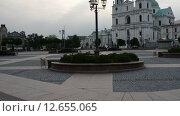 Купить «St. Francis Xavier Cathedral, Grodno», видеоролик № 12655065, снято 5 августа 2015 г. (c) BestPhotoStudio / Фотобанк Лори