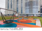 Жилой комплекс в Москве (2015 год). Стоковое фото, фотограф Константин Ламин / Фотобанк Лори